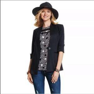 Cabi Turner Collarless Black Blazer Size 8